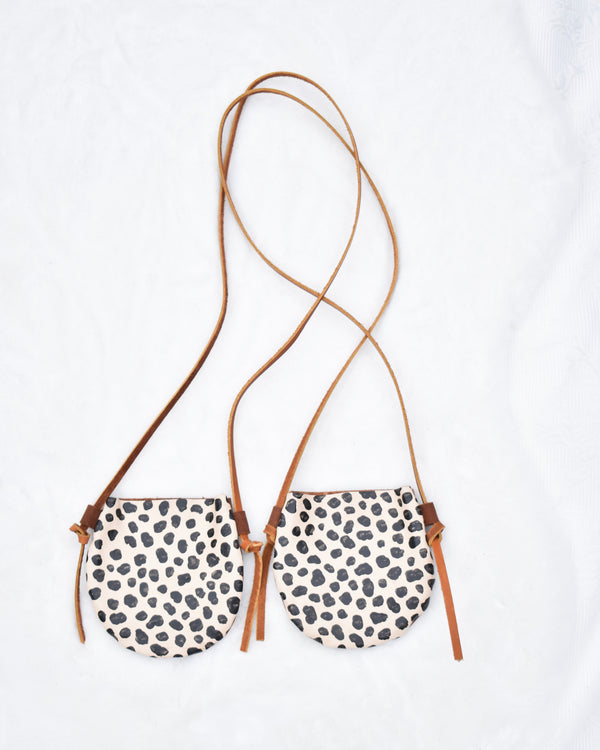 Spotted Leather Mini Purse (4295176126554)