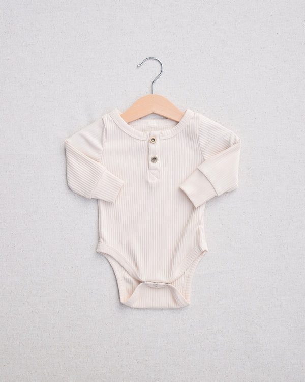 Cream Long Sleeve Onesie