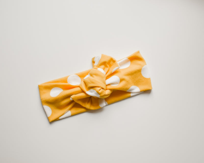 Yellow Polka Headwrap (4665661030490)