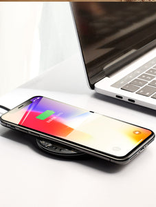 Transparent Wireless Fast Charger for Qi-certified iOS and Android devices