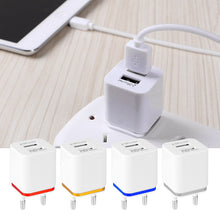 Load image into Gallery viewer, USB Wall Charger Travel Dual Port Adapter , US or EU Plug 1A 2.1A