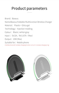 Dual Position Wireless Charger For All Qi-certified iOS and Android devices