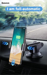 2 in 1 Wireless Quick Car Charger for Qi-certified iOS and Android devices