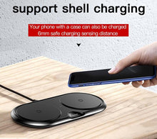 Load image into Gallery viewer, Dual Wireless Quick Charger For All Qi-certified iOS and Android devices