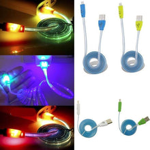 Load image into Gallery viewer, Smiley Luminescent USB 2.0 Charging/Data Cables