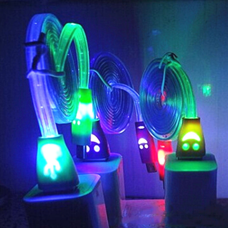 Smiley Luminescent USB 2.0 Charging/Data Cables