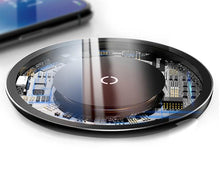 Load image into Gallery viewer, Transparent Wireless Fast Charger for Qi-certified iOS and Android devices