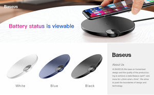 LED Display Wireless Charger For Qi Equipped Mobile Phones