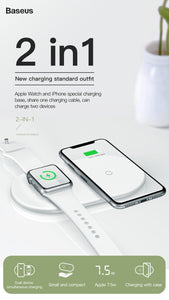 2 in 1 Wireless Charger For iPhone X/XS Max/XR, Apple Watch 4/3/2