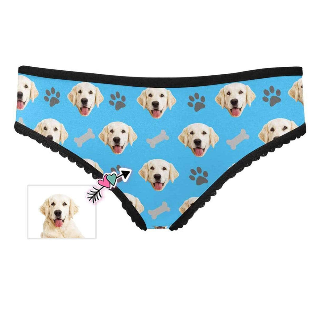 Mybestboxer Apparel & Accessories > Clothing > Underwear & Socks > Underwear Custom Dog Paw and Bone Women's High-cut Briefs
