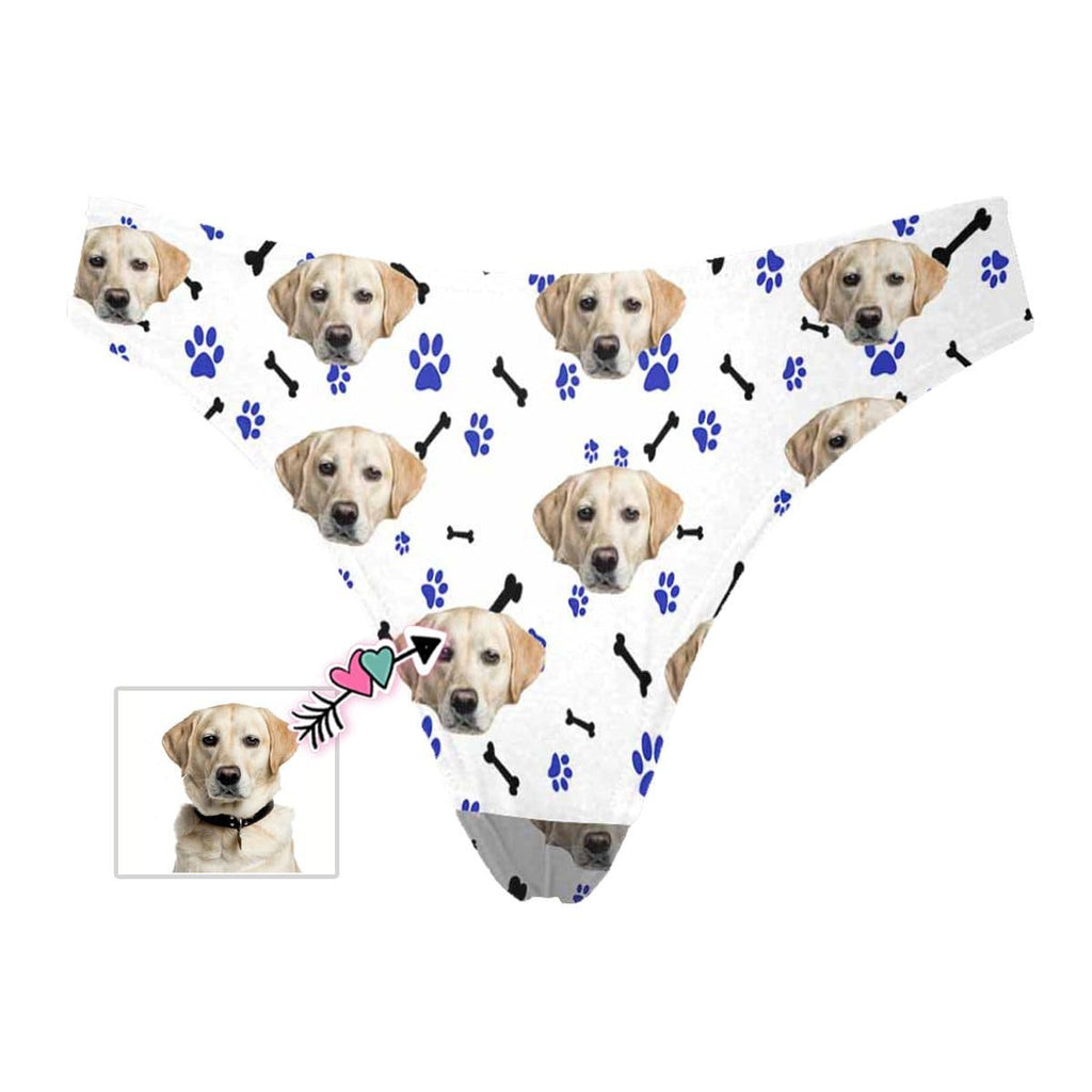 Mybestboxer Apparel & Accessories > Clothing > Underwear & Socks > Underwear Custom Dog Paw and Bones Women's Classic Thong