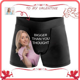 Custom Face Women Bigger Than You Thought Men's All-Over Print Boxer Briefs