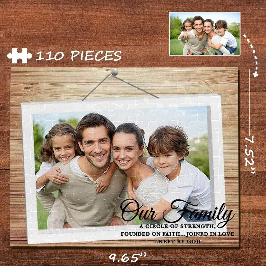 MybestBoxer Jigsaw Puzzle Custom Photo Family Photo Frame Rectangle Jigsaw Puzzle Best Indoor Gifts 110 Pieces