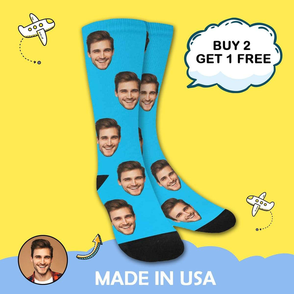 MybestBoxer Socks Custom Your Faces Sublimated Crew Socks