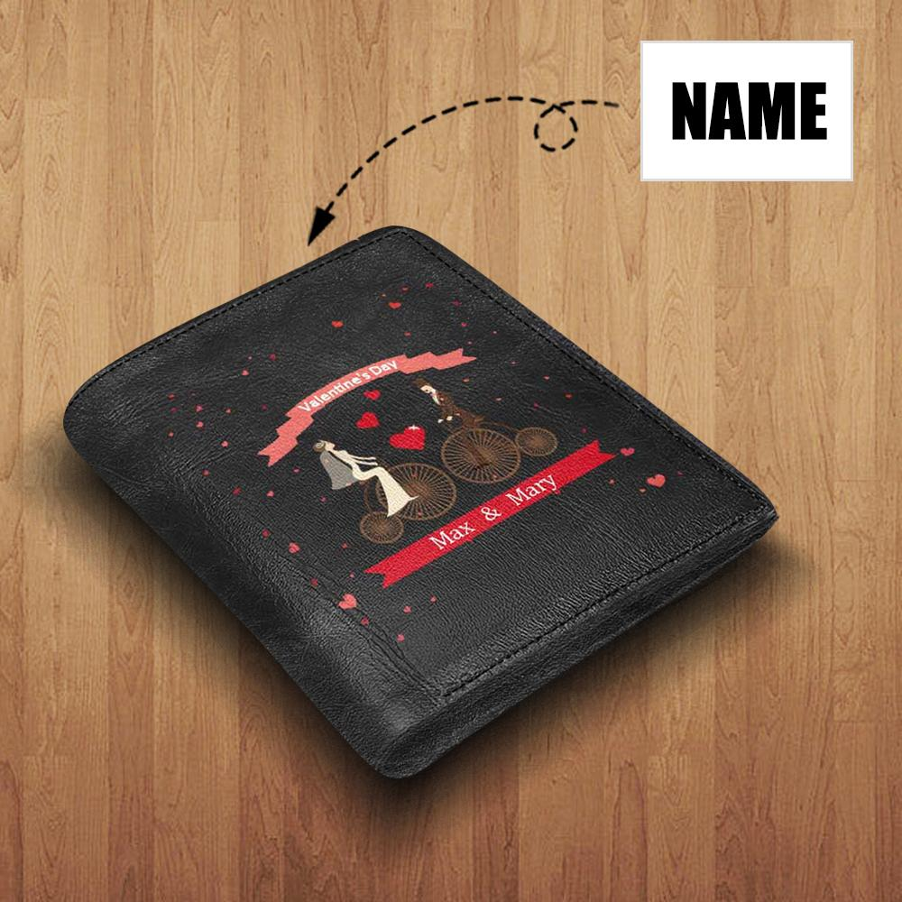 MybestBoxer Wallet Custom Name Meet Love Leather Wallet