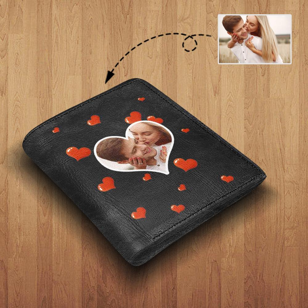 MybestBoxer Wallet Custom Photo Love Leather Wallet