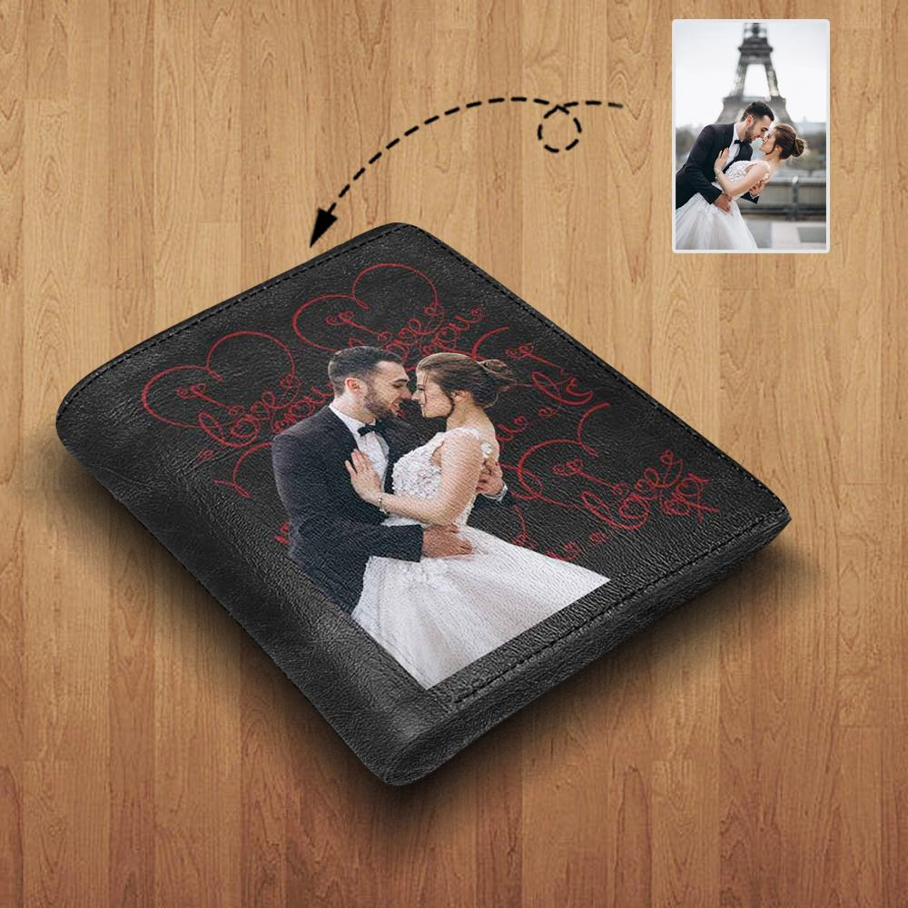 MybestBoxer Wallet Custom Photo Sweetheart Leather Wallet