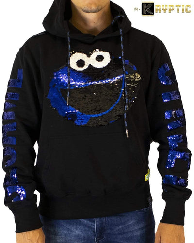 deKryptic x Sesame Street® - Cookie Monster Sequined Hoodie - de•Kryptic