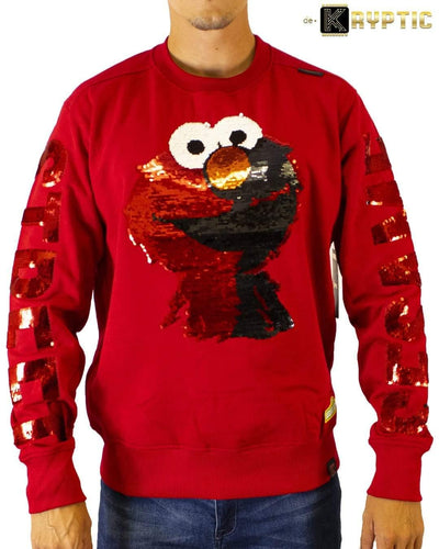 deKryptic x Sesame Street® - Elmo Sequined Crew Neck