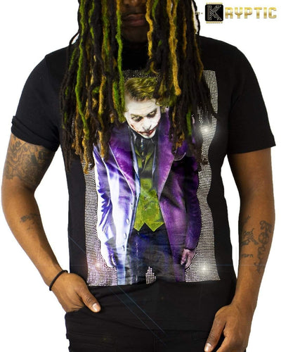 deKryptic x The Joker™ - Why So Serious? - Premium Stoned Black T-Shirt - de•Kryptic