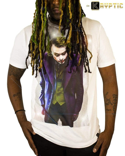 deKryptic x The Joker™ - Why So Serious? - Premium Stoned White T-Shirt - de•Kryptic