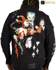 deKryptic x The Joker™ - Joker & Harley Quinn: Tango With Evil - Denim Jacket - de•Kryptic