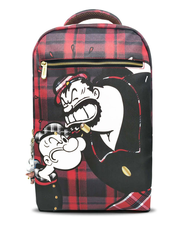 Popeye™ vs Bluto Plaid Augmented Reality Backpack