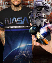 NASA™ Earth from Above Black Augmented Reality T-Shirt