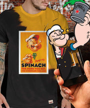 Popeye™ Spinach Tie Dye Augmented Reality T-Shirt