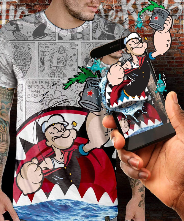 Popeye™ Shark Augmented Reality T-Shirt