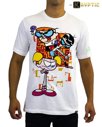 deKryptic x Dexter's Laboratory™ - Boy Genius Augmented Reality White T-Shirt