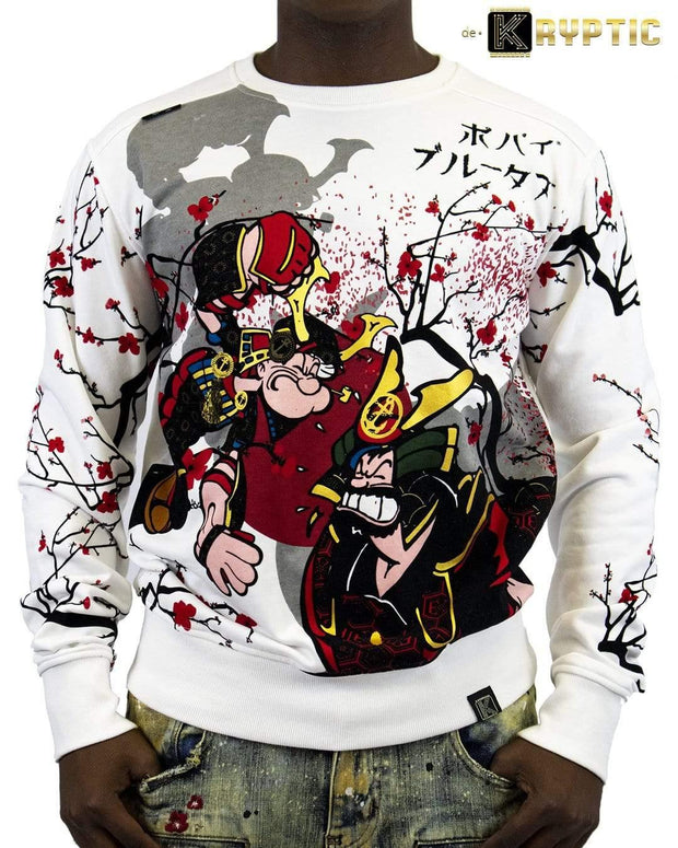 deKryptic x Popeye - Samurai Augmented Reality Crew Neck