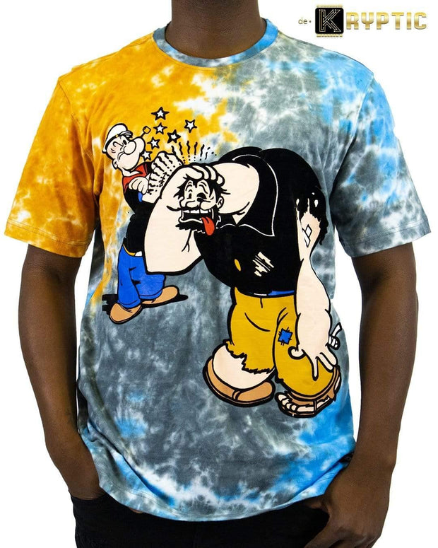 deKryptic x POPEYE -  Knockout Augmented Reality Aqua T-Shirt