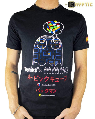 deKryptic x Rubik's x Pac-Man - Ghost Augmented Reality T-Shirt - de•Kryptic