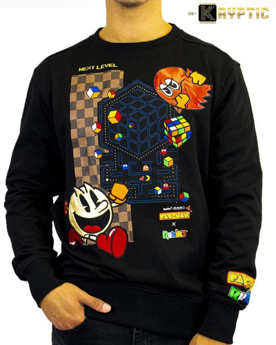 deKryptic x Rubik's x Pac-Man - Couture Augmented Reality Crew Neck - de•Kryptic