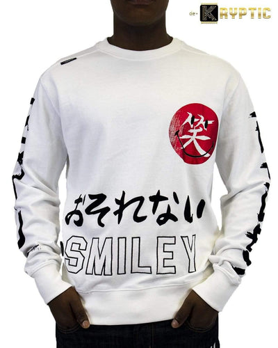 deKryptic x Smiley - Japan Augmented Reality White Crew Neck - de•Kryptic