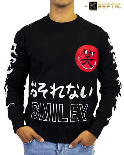 deKryptic x Smiley - Japan Augmented Reality Black Crew Neck - de•Kryptic