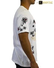 deKryptic x Smiley - Japan Crane Augmented Reality White T-Shirt