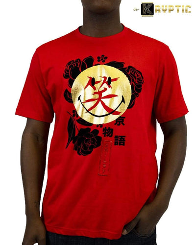 deKryptic x Smiley - Japan Augmented Reality Red T-Shirt - de•Kryptic