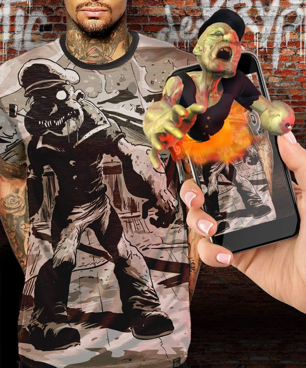 Popeye™ Zombie Augmented Reality T-Shirt