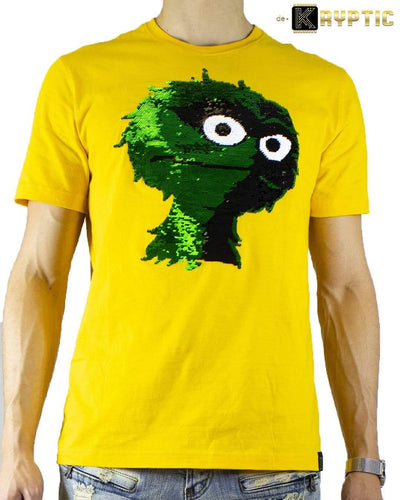deKryptic x Sesame Street® - Oscar Sequined T-Shirt