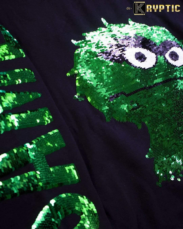 deKryptic x Sesame Street® - Oscar Sequined Crew Neck