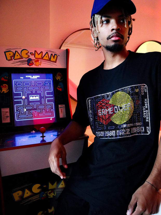 deKryptic x Rubik's x Pac-Man - Game Credit Stoned T-Shirt
