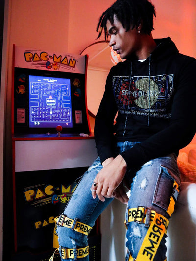 deKryptic x Rubik's x Pac-Man - Game Credit Stoned Hoodie - de•Kryptic