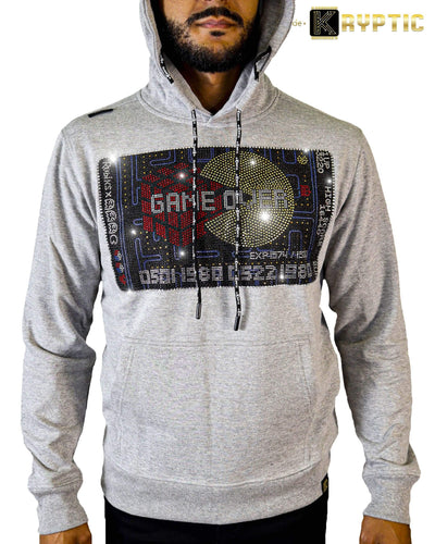 deKryptic x Rubik's x Pac-Man - Game Credit Stoned Heather Grey Hoodie - de•Kryptic