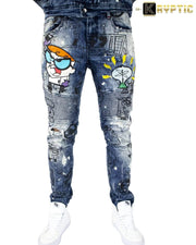 deKryptic x Dexter's Laboratory™ - EUREKA Augmented Reality Denim Jeans - de•Kryptic