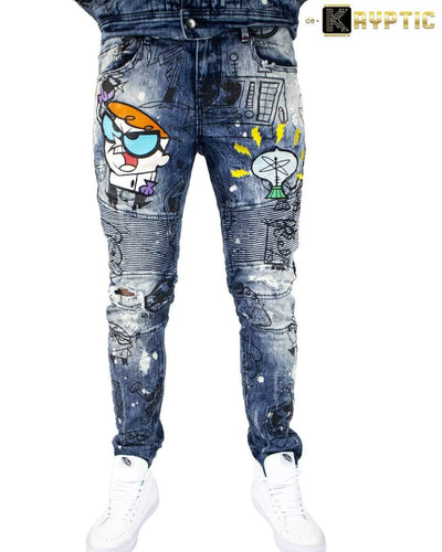 deKryptic x Dexter's Laboratory™ - EUREKA Augmented Reality Denim Jeans