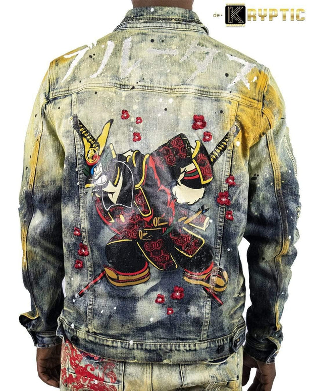 deKryptic x POPEYE -  Samurai Augmented Reality Denim Jacket