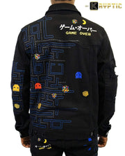 deKryptic x Rubik's x Pac-Man - Game Over Augmented Reality Denim Jacket