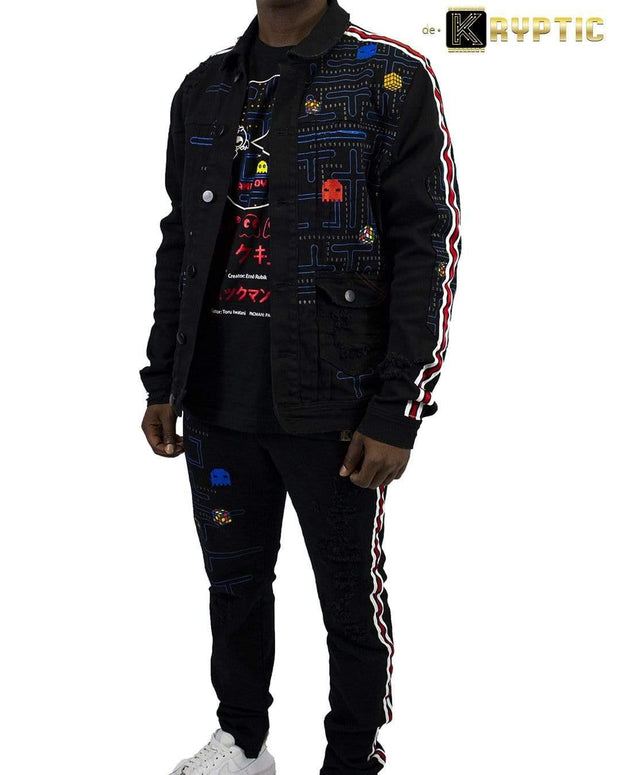 deKryptic x Rubik's x Pac-Man - Game Over Augmented Reality Denim Jean